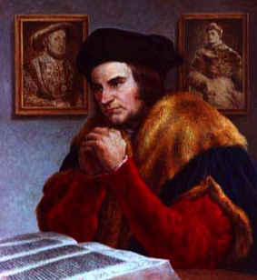 Saint Thomas More prays for Henry to explode.